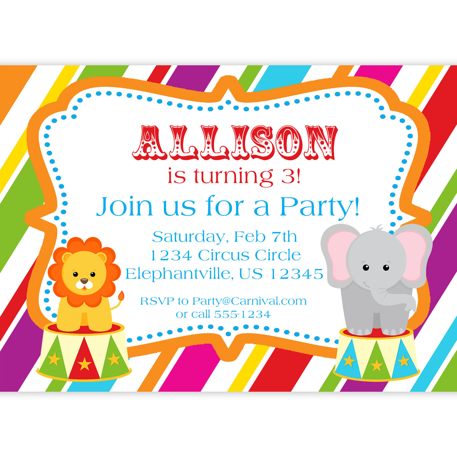 Birthday Party Invitations For Kids  Art Birthday Party Invitations for your Kids – Bagvania