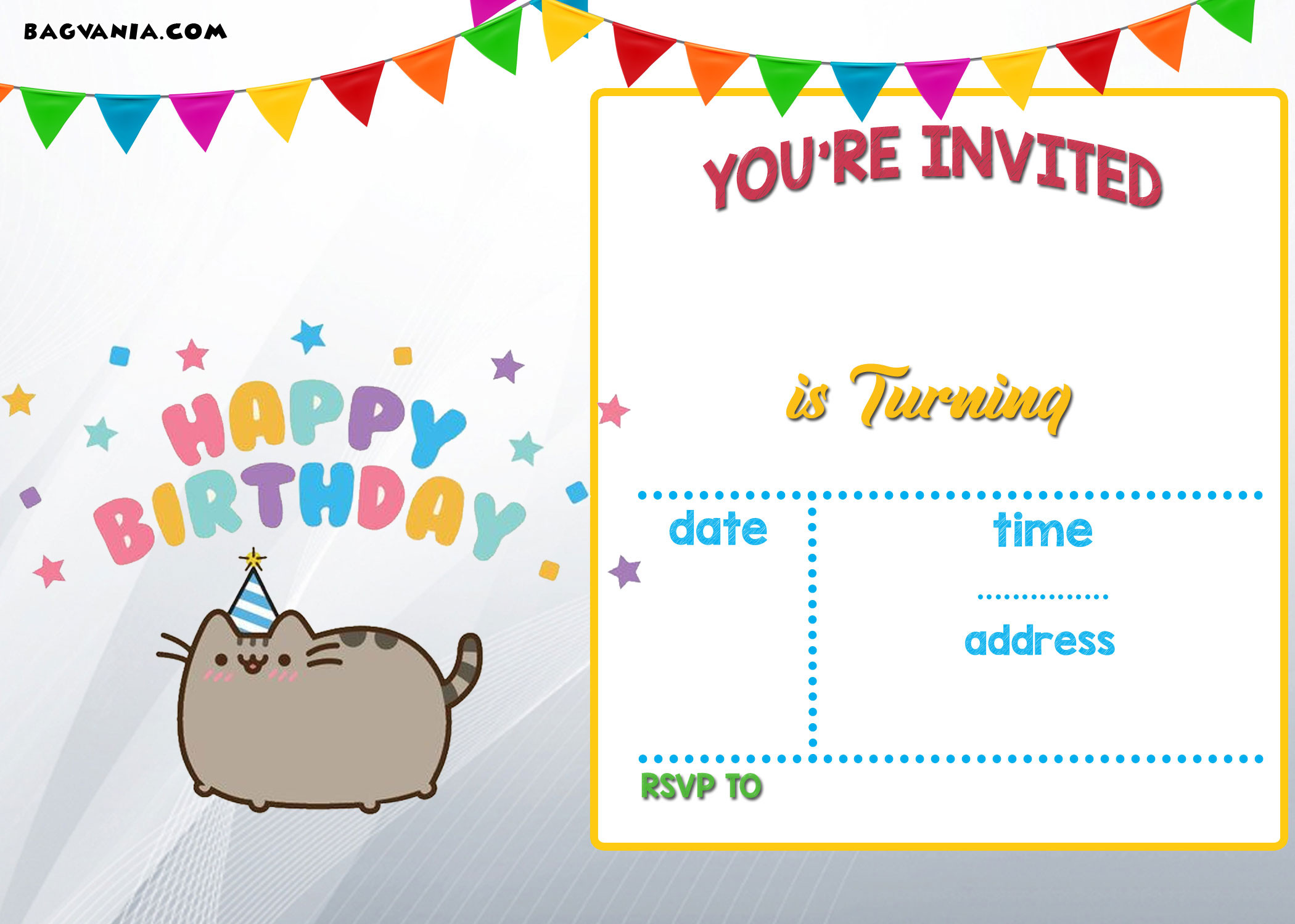 Birthday Party Invitations For Kids  Free Printable Kids Birthday Invitations – Bagvania FREE