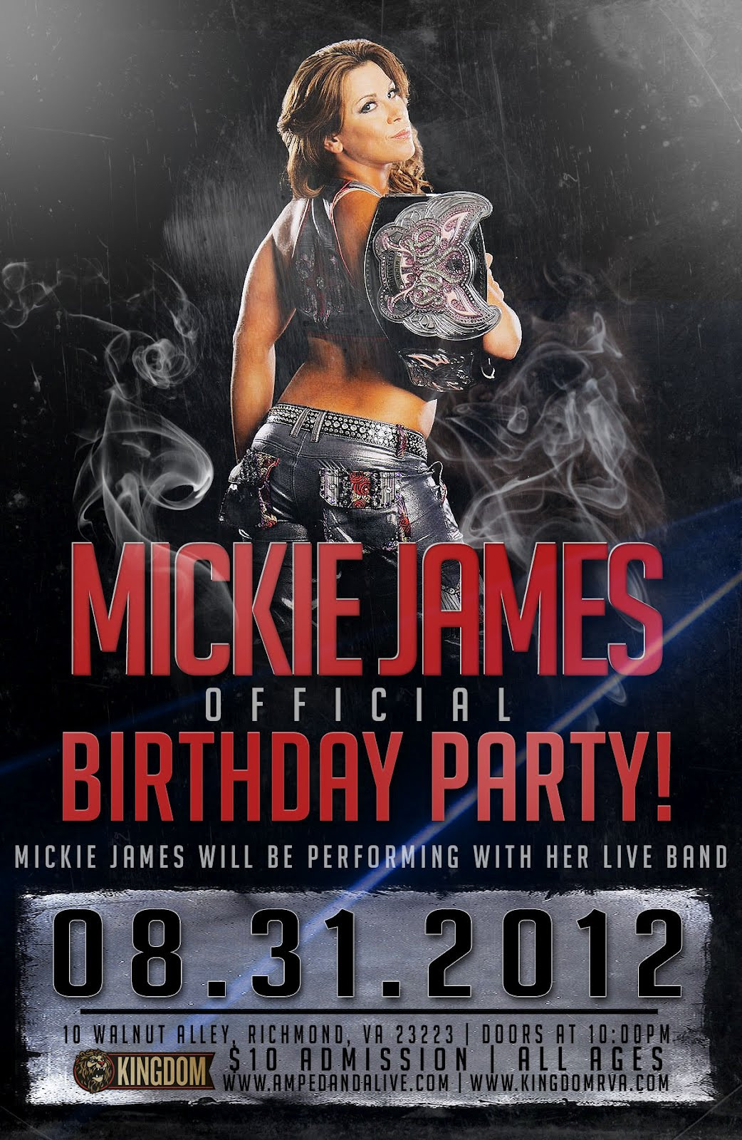 Birthday Party Richmond Va  Wrestling News Center Mickie James Birthday Party In