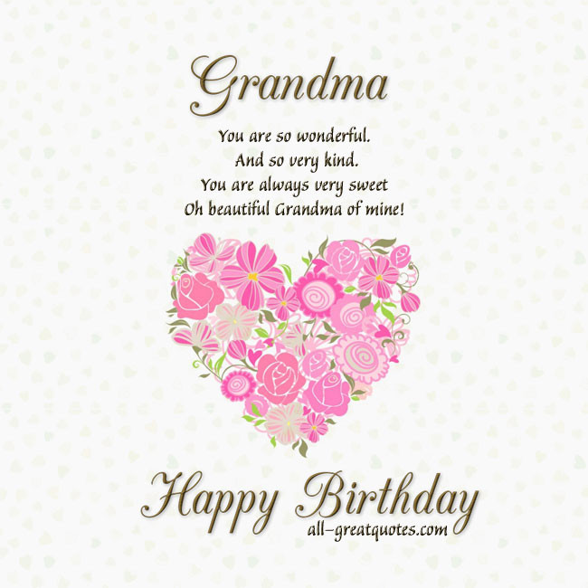 Birthday Wishes For Grandmother  HAPPY BIRTHDAY QUOTES FOR GRANDMA IN HEAVEN image quotes