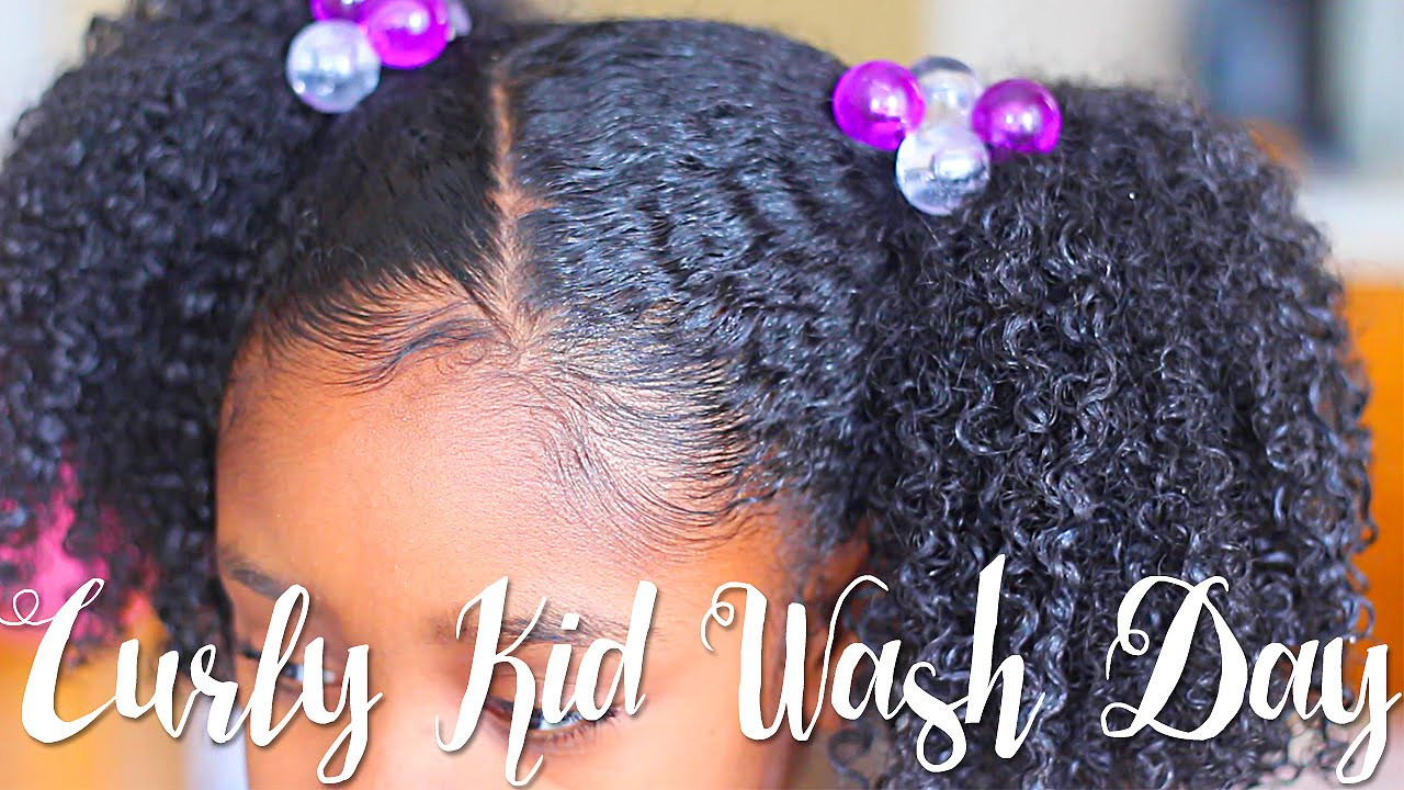 Black Child Hair Care  Curly Kid Wash Day Feat So Cozy