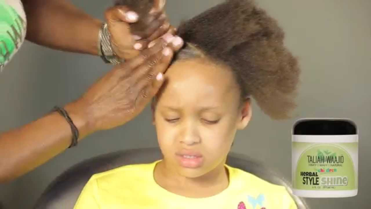 Black Child Hair Care  How to detangle and style child s 4 c hair Childrens Hair