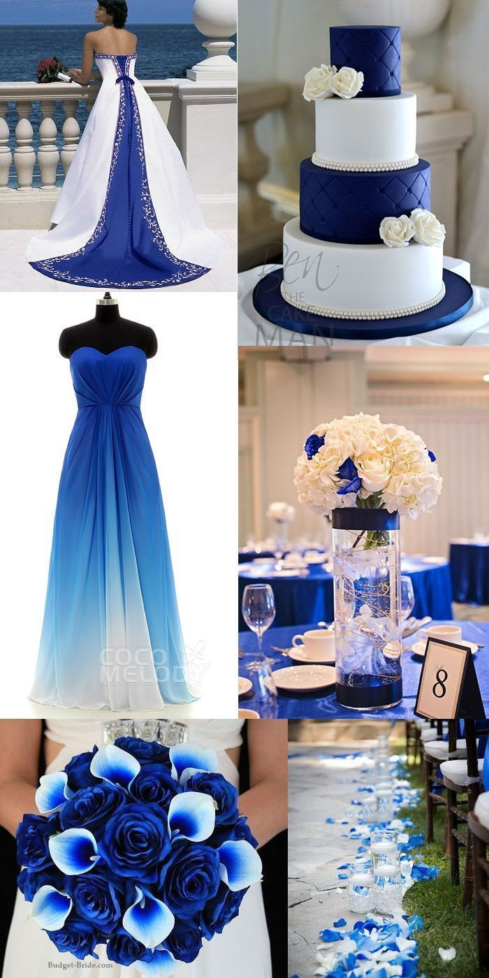 Blue And White Wedding Decorations  38 best royal blue wedding decoration images on Pinterest