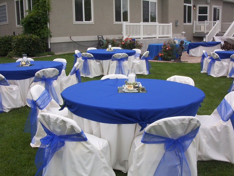 Blue And White Wedding Decorations  Blue And White Wedding Reception Decorations