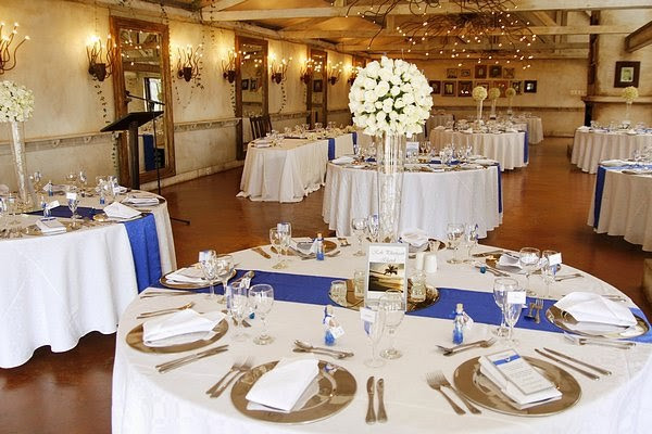 Blue And White Wedding Decorations  royal blue silver white wedding decorations