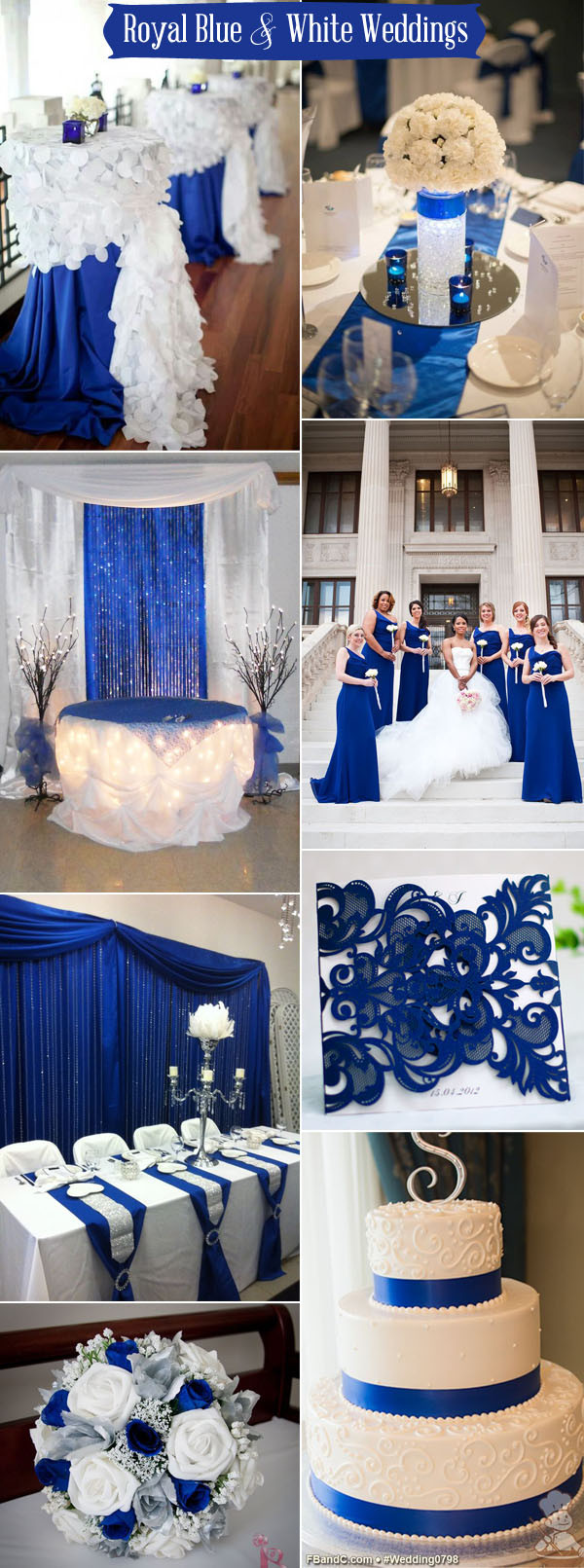Blue And White Wedding Decorations  Ten Prettiest Shades of Blue for 2017 Wedding Color Ideas