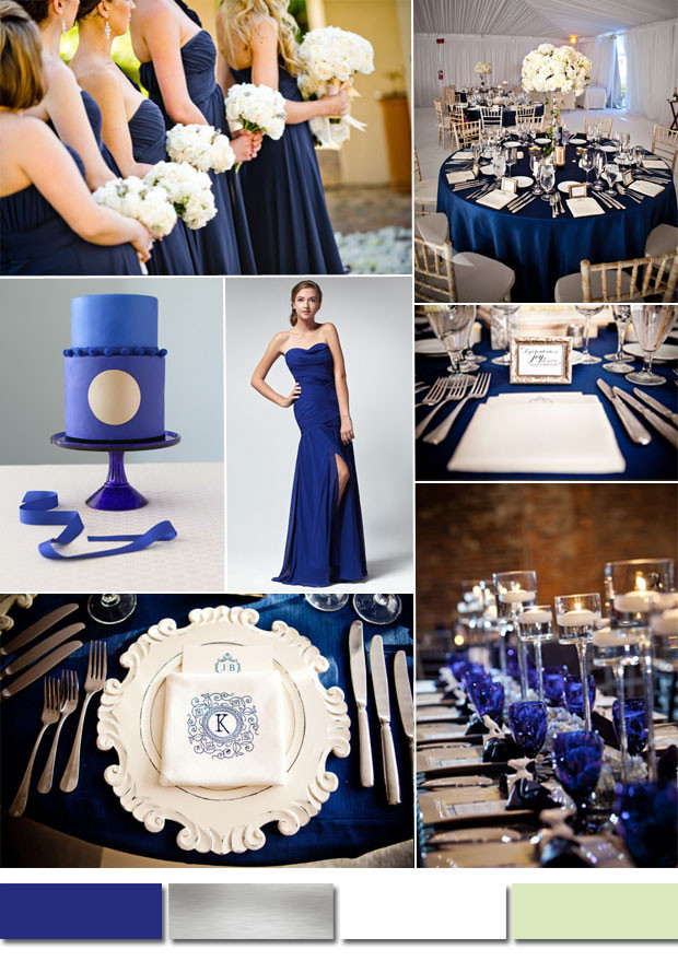 Blue And White Wedding Decorations  royal blue and pink wedding colors