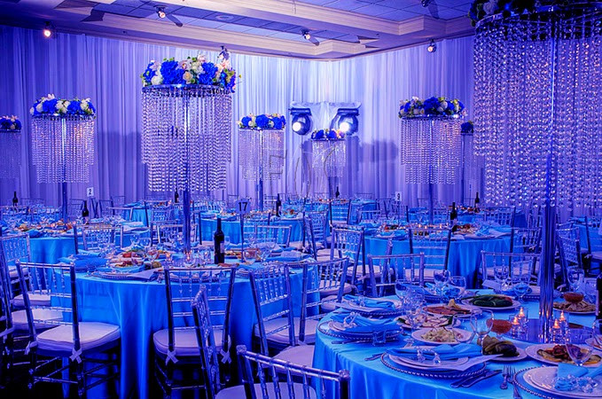 Blue And White Wedding Decorations  Blue And White Wedding Theme