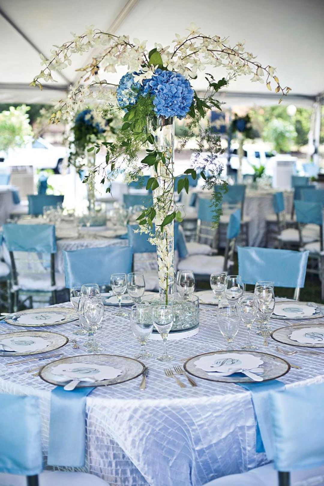 Blue And White Wedding Decorations  Light Blue Wedding Decorations – OOSILE