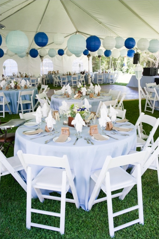 Blue And White Wedding Decorations  Rustic Blue and White Wedding