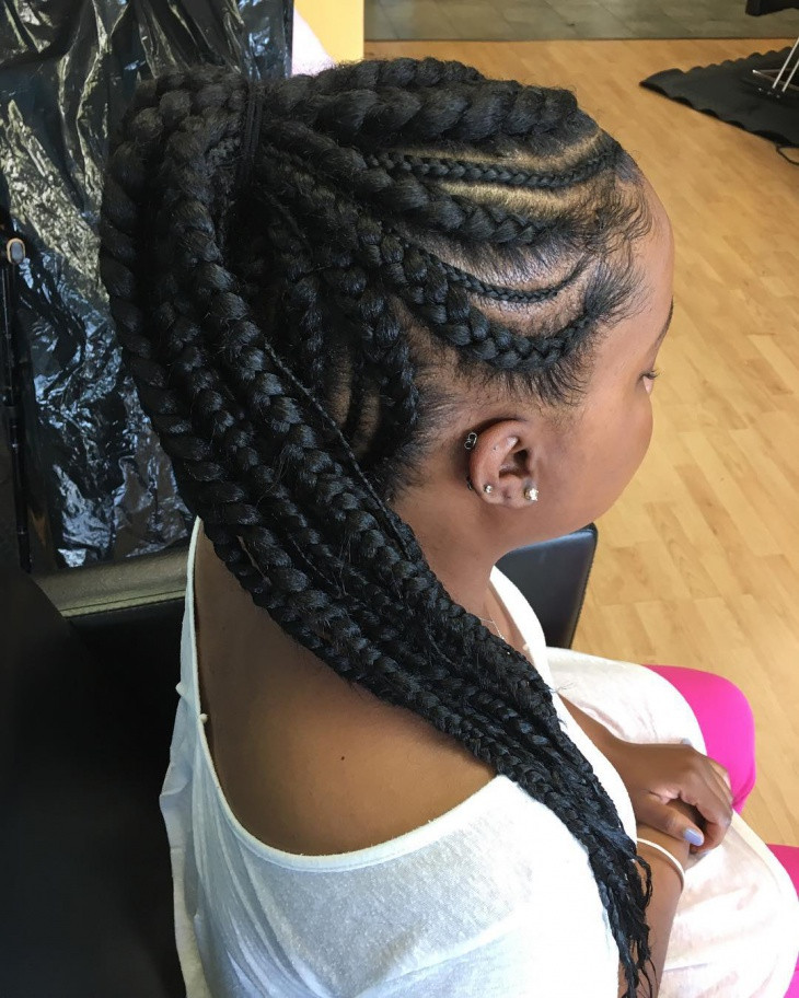 Braid Hairstyles With Weave  23 Weave Hairstyle Designs Ideas