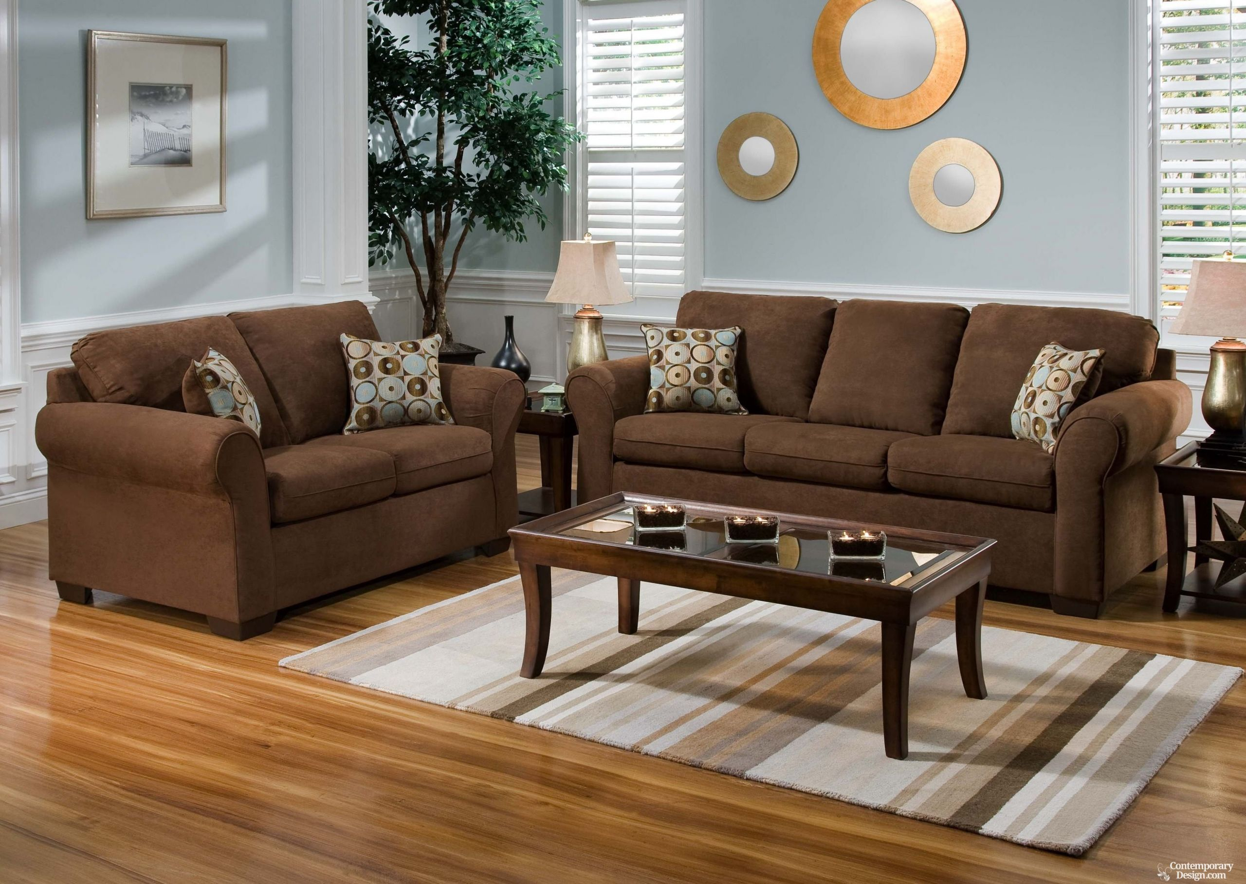 Brown Paint Living Room  Living room paint color ideas with brown furniture