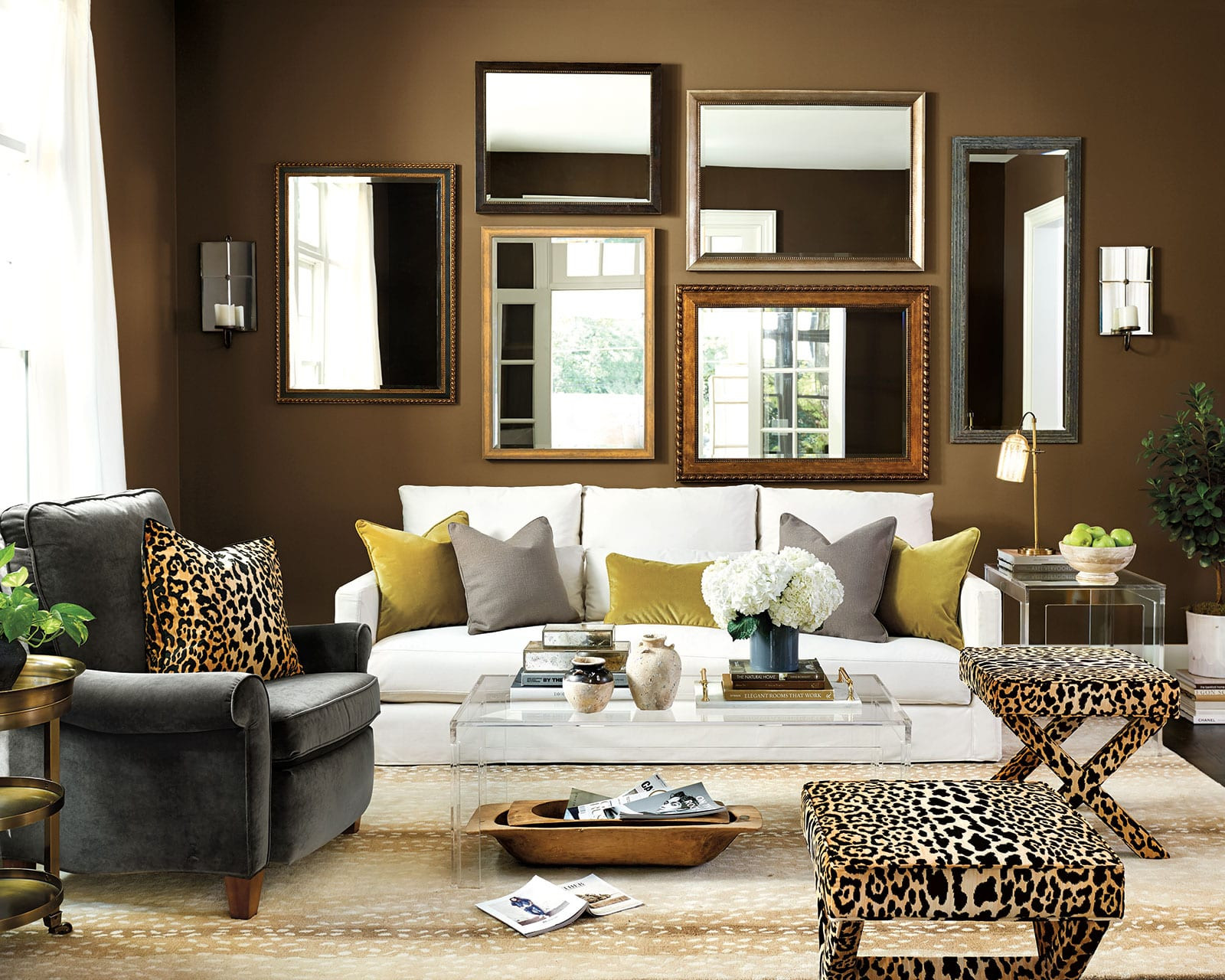 Brown Paint Living Room  Dark Paint Color Inspiration for Your Room