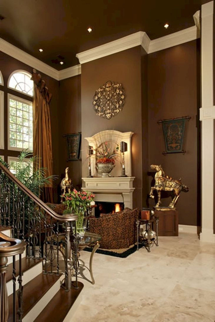 Brown Paint Living Room  30 Awesome Brown Color Scheme Ideas For Awesome Living