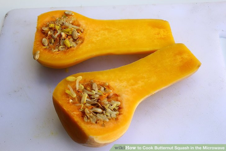 Butternut Squash Microwave  4 Ways to Cook Butternut Squash in the Microwave wikiHow