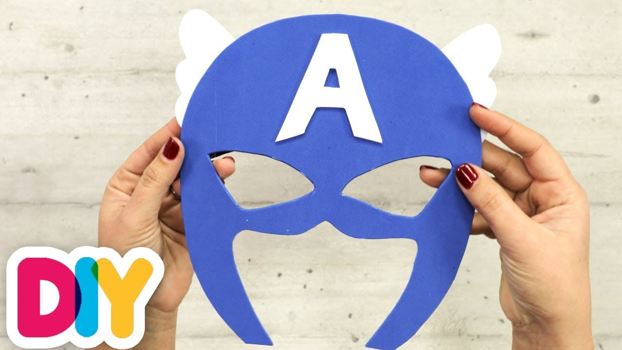 Captain America Mask DIY  How to make a CAPTAIN AMERICA MASK Paper Craft