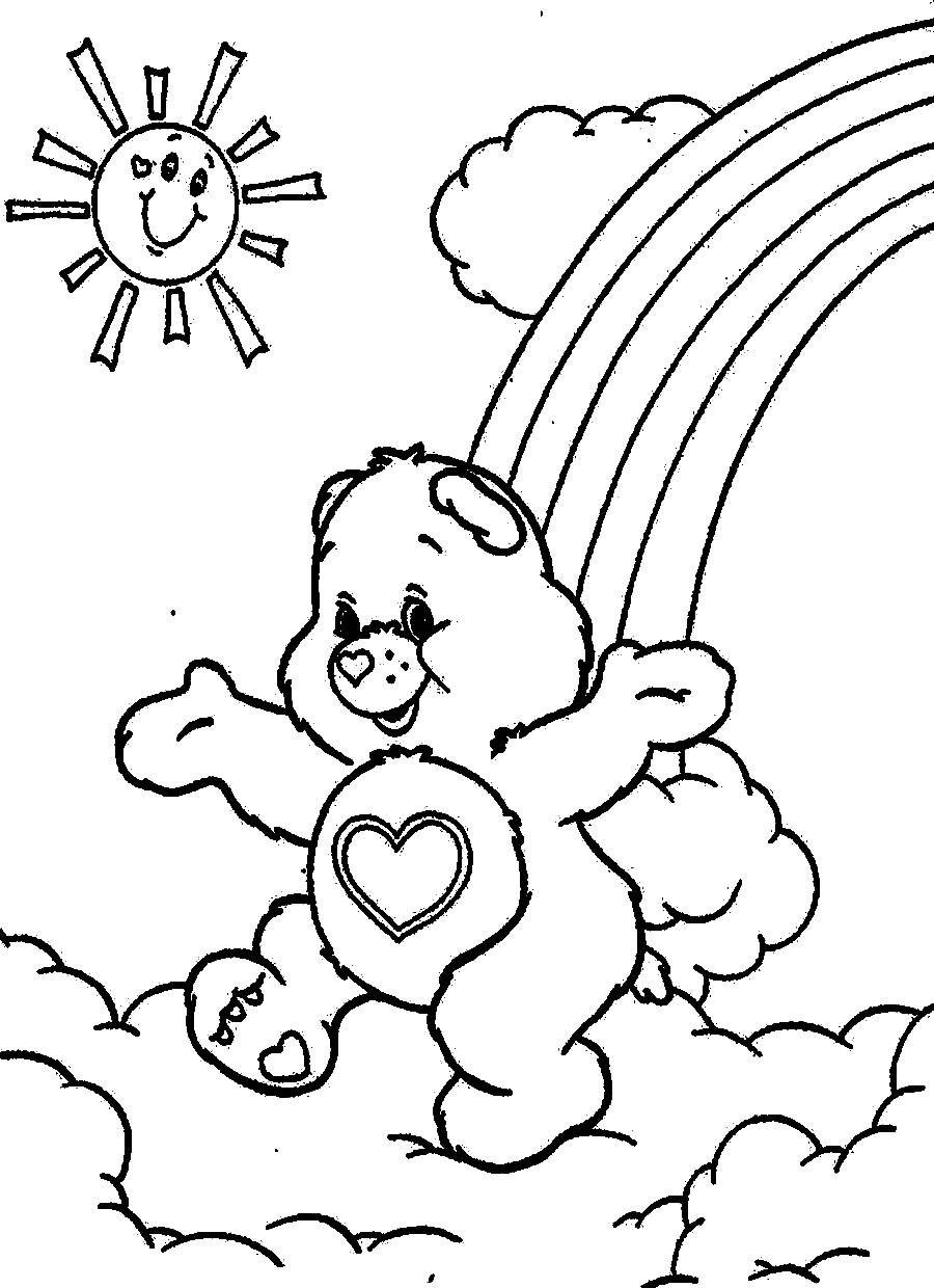 Cartoon Coloring Pages For Kids  Cartoon Coloring For Kids Care Bears Coloring Pages
