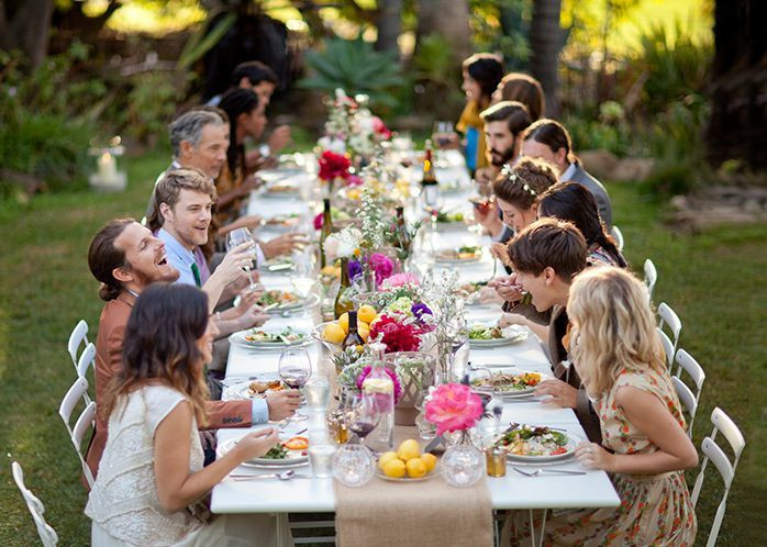 Casual Backyard Weddings  Casual backyard wedding there s something so sweet and