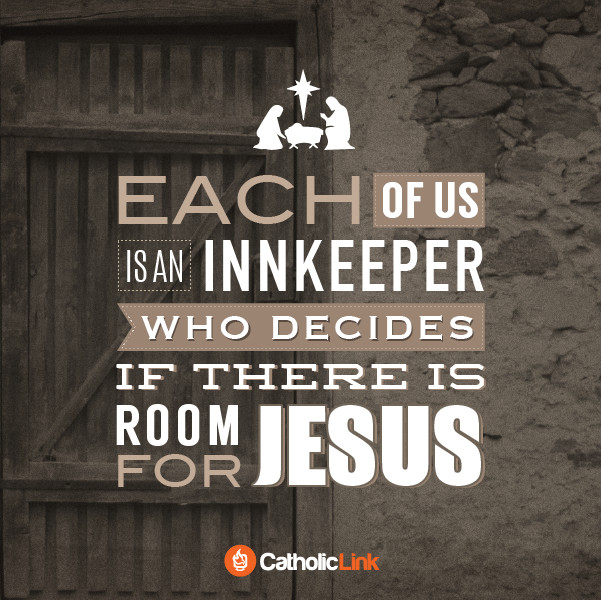 Catholic Christmas Quotes  catholic christmas quote each of us is an innkeeper With