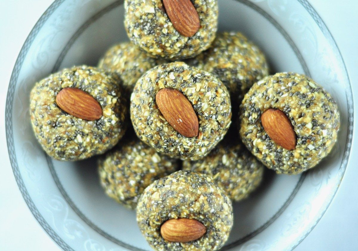 Chia Seeds Recipes Indian  Dry Fruit Ladoo with Oats and Chia Seeds