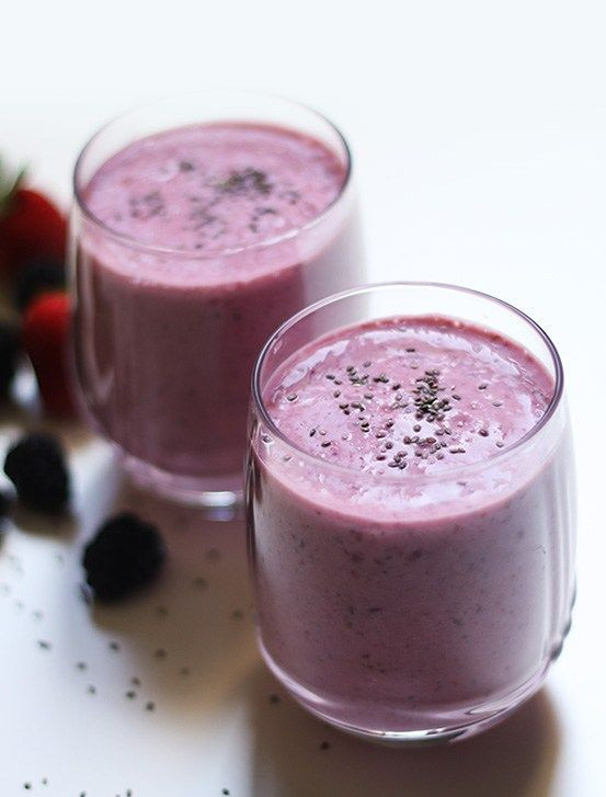 Chia Seeds Recipes Indian  Mixed Berries Chia Seeds Smoothie Recipe
