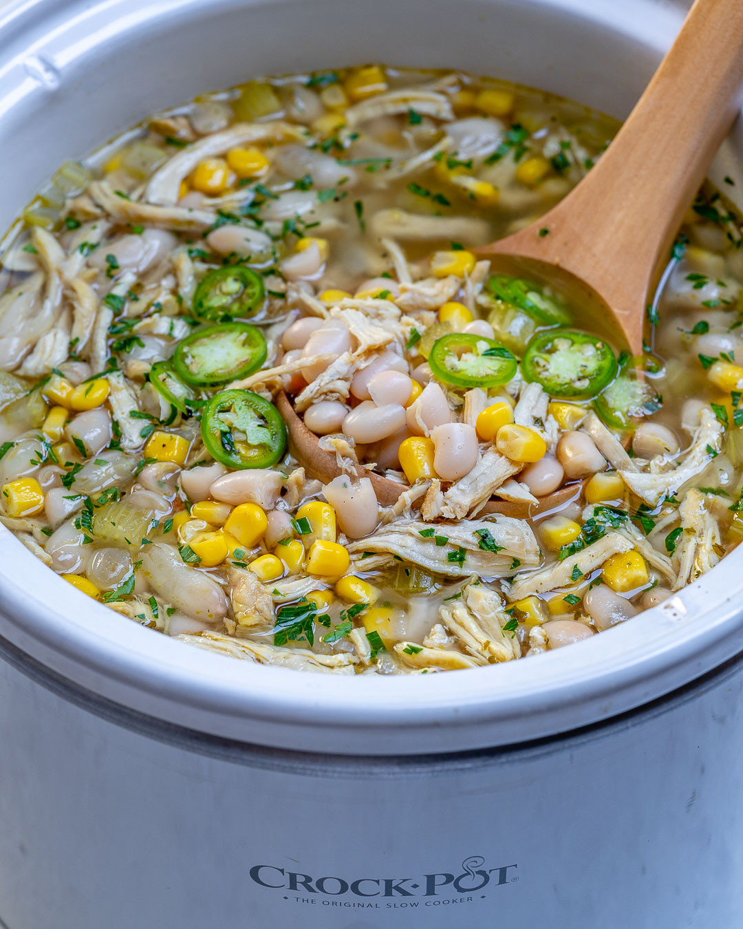 Chicken Chili Crock Pot Recipes  Crock Pot Instant Pot White Chicken Chili for Clean Eating