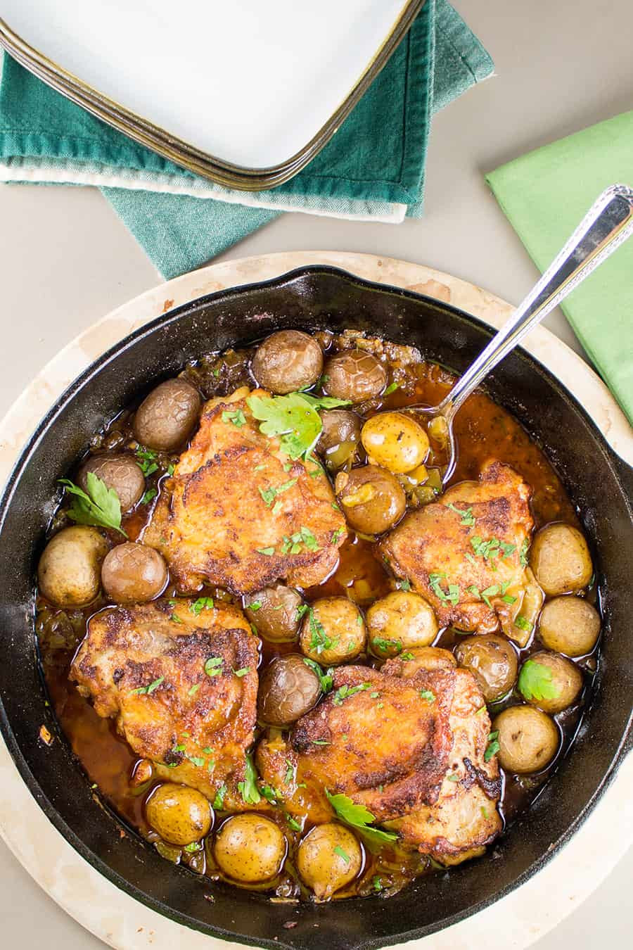Chicken Thighs Chili  Cajun Baked Chicken Thighs Recipe Chili Pepper Madness