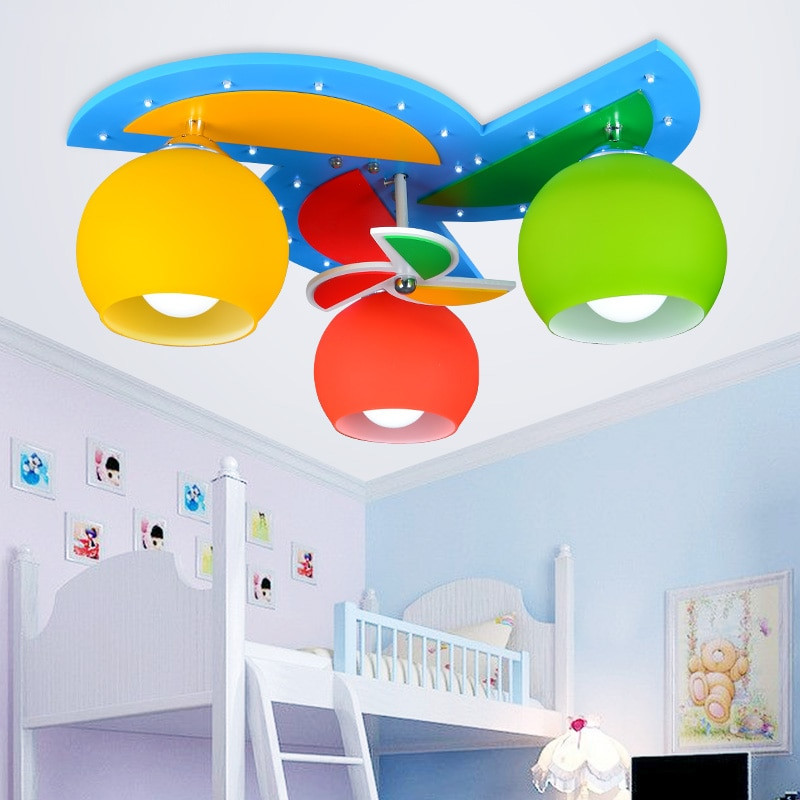 Children Bedroom Lights  Ceiling Lights with 3 Heads for Baby Boy Girl Kids