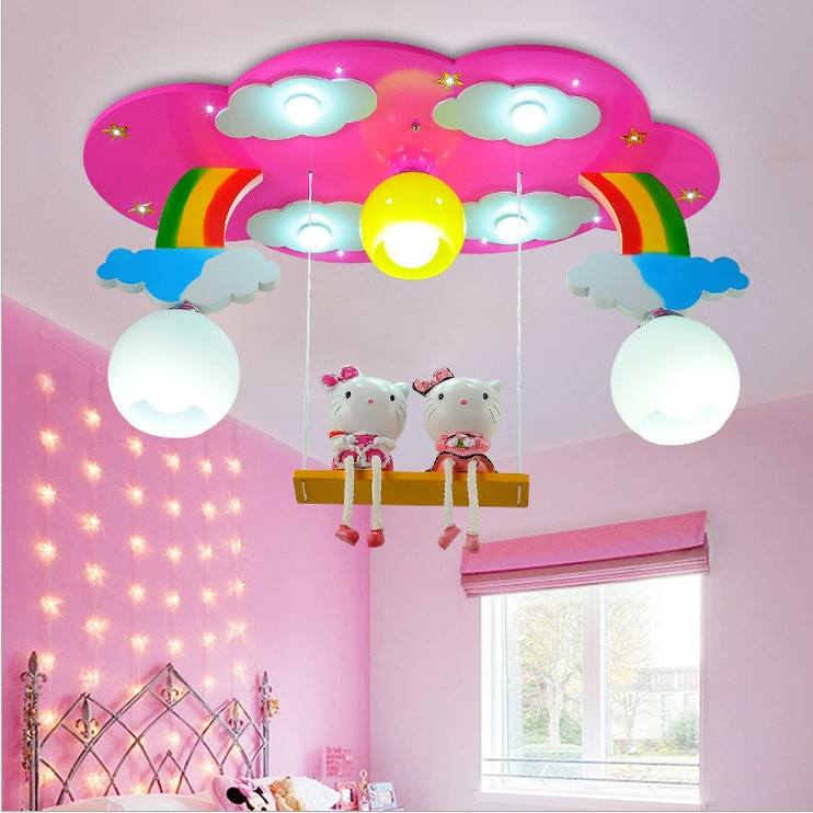 Children Bedroom Lights  Modern cartoon Ceiling Light Kids Bedroom Bulb Light