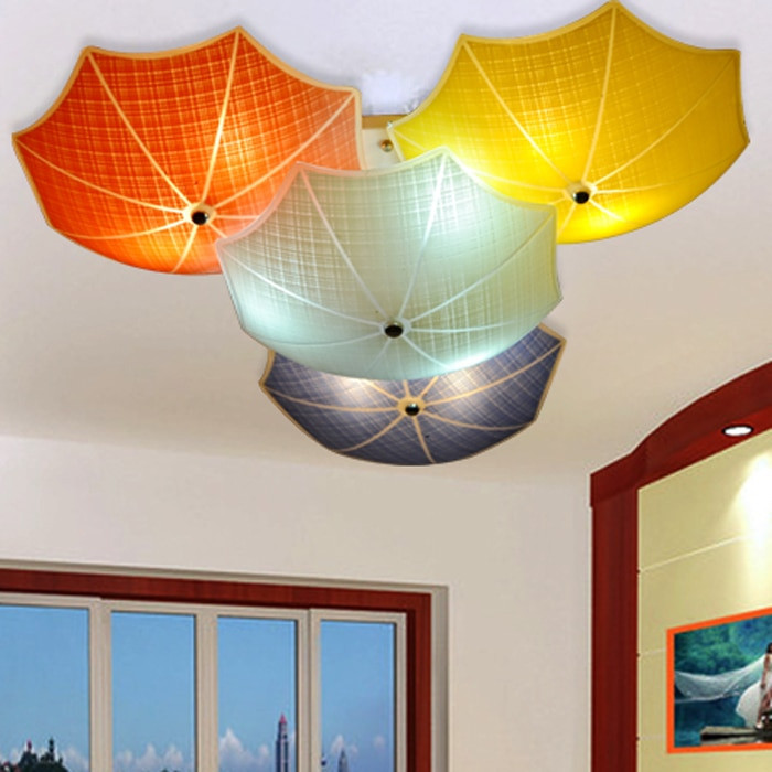 Children Bedroom Lights  Modern Children Bedroom Ceiling Lamps Multicolour Umbrella