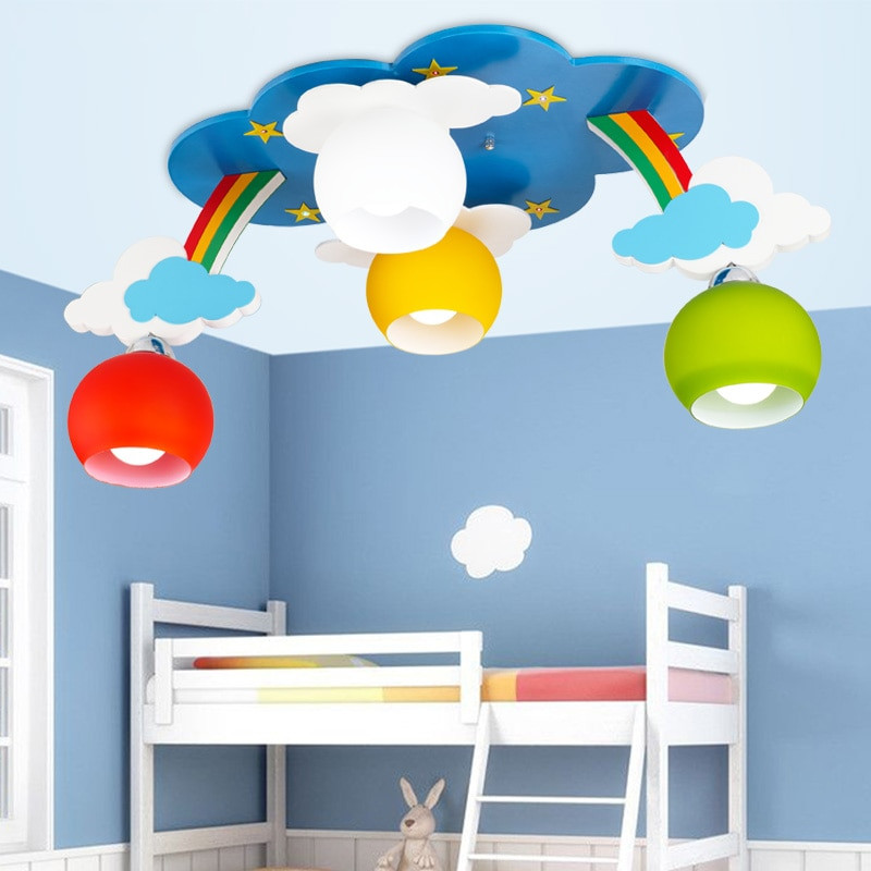 Children Bedroom Lights  Kids Bedroom Cartoon Surface Mounted Ceiling Lights Modern
