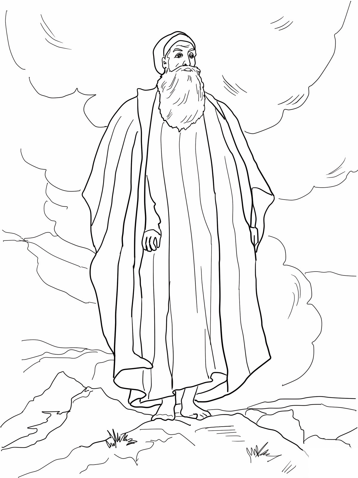 Children Coloring Page  Free Printable Moses Coloring Pages For Kids