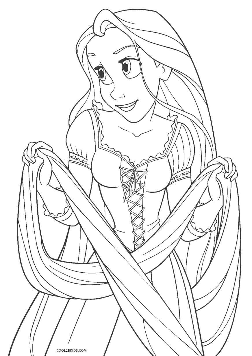 Children Coloring Page  Free Printable Tangled Coloring Pages For Kids