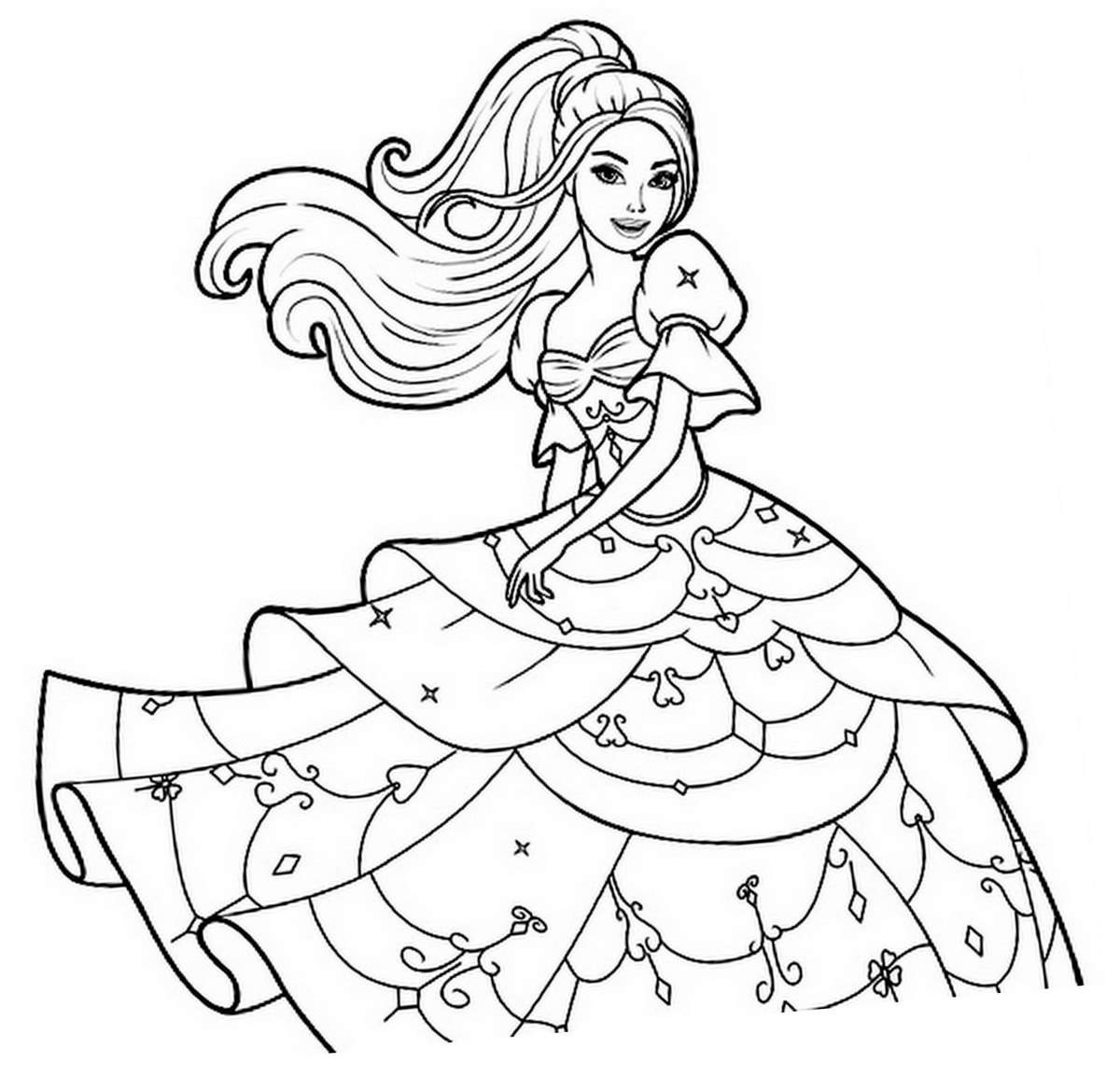 Children Coloring Page  Princesses to color for kids Princesses Kids Coloring Pages