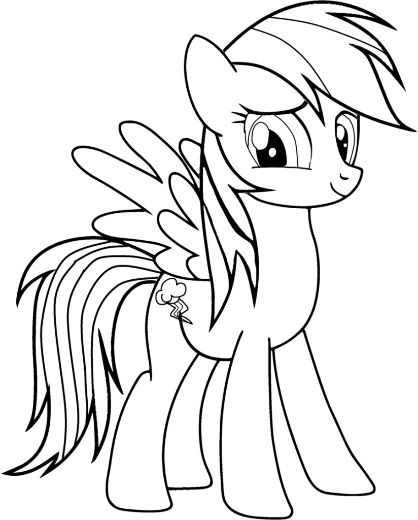 Children Coloring Page  Rainbow Dash Coloring Pages Best Coloring Pages For Kids
