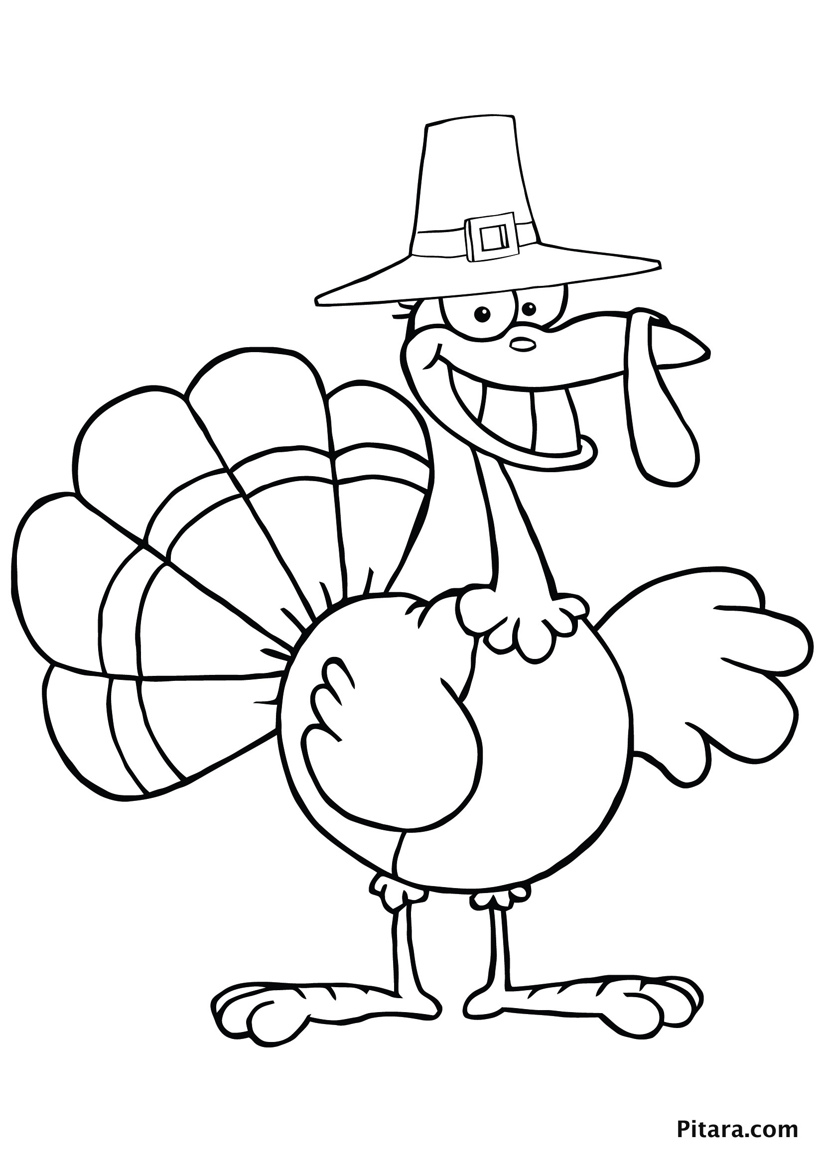 Children Coloring Page  Turkey Coloring Pages for Kids