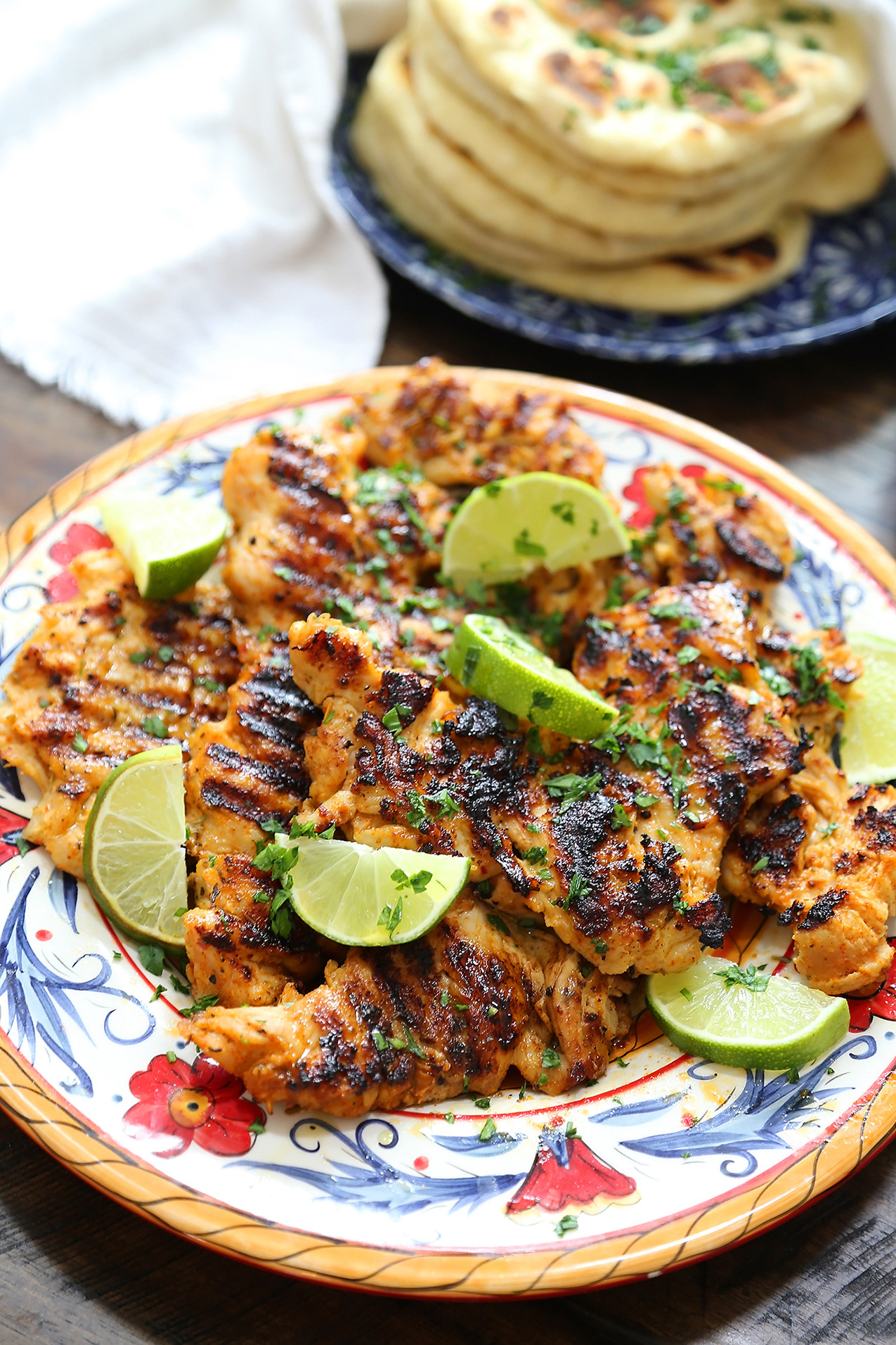 Chili Lime Chicken Recipe  Chili Lime Grilled Chicken with Cucumber Mint Sauce
