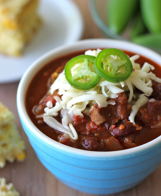 Chili With Steak And Ground Beef  Top Chili Recipes for Super Bowl Sunday