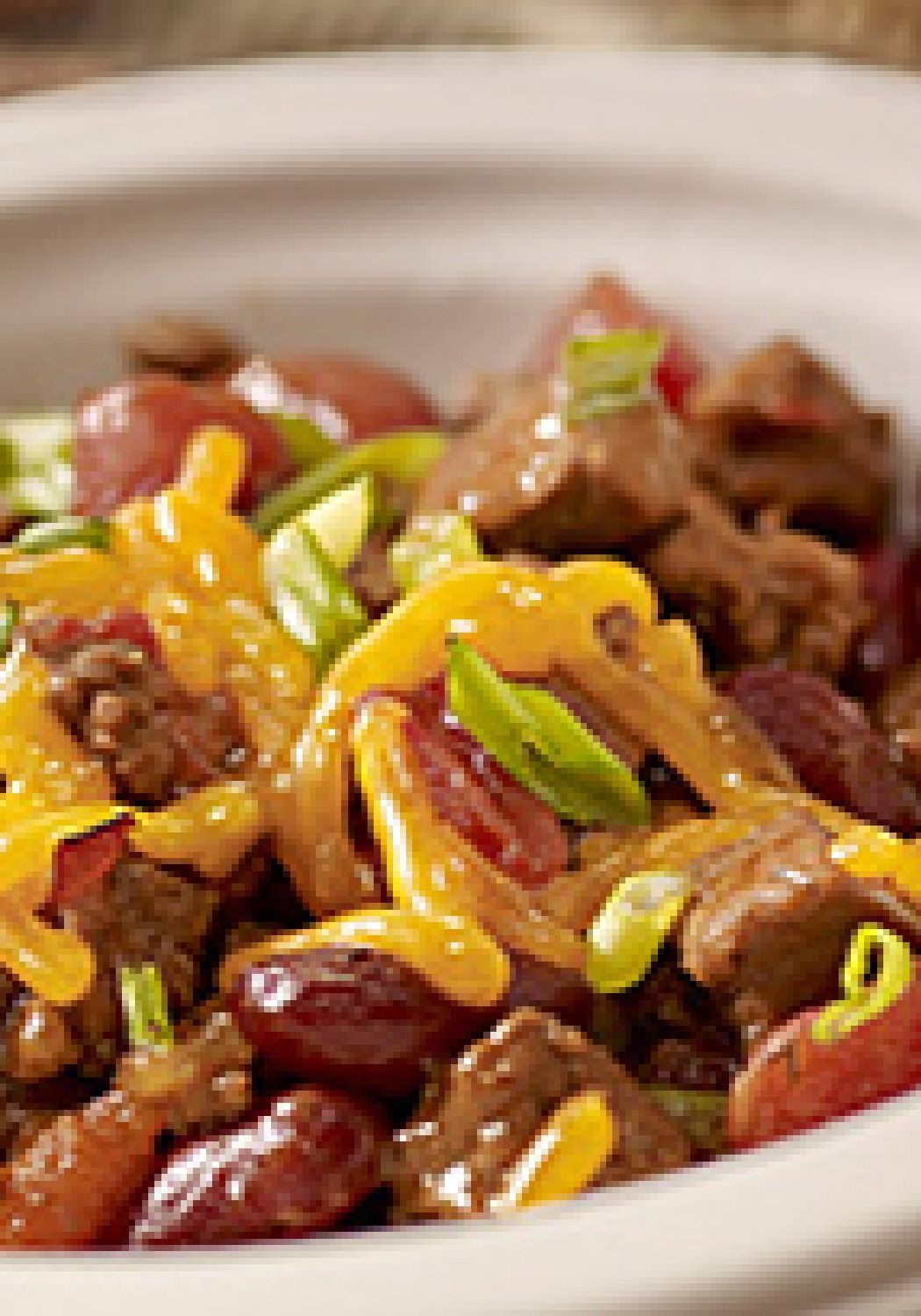 Chili With Steak And Ground Beef  BBQ Steakhouse Chili – This hearty BBQ Steakhouse Chili is
