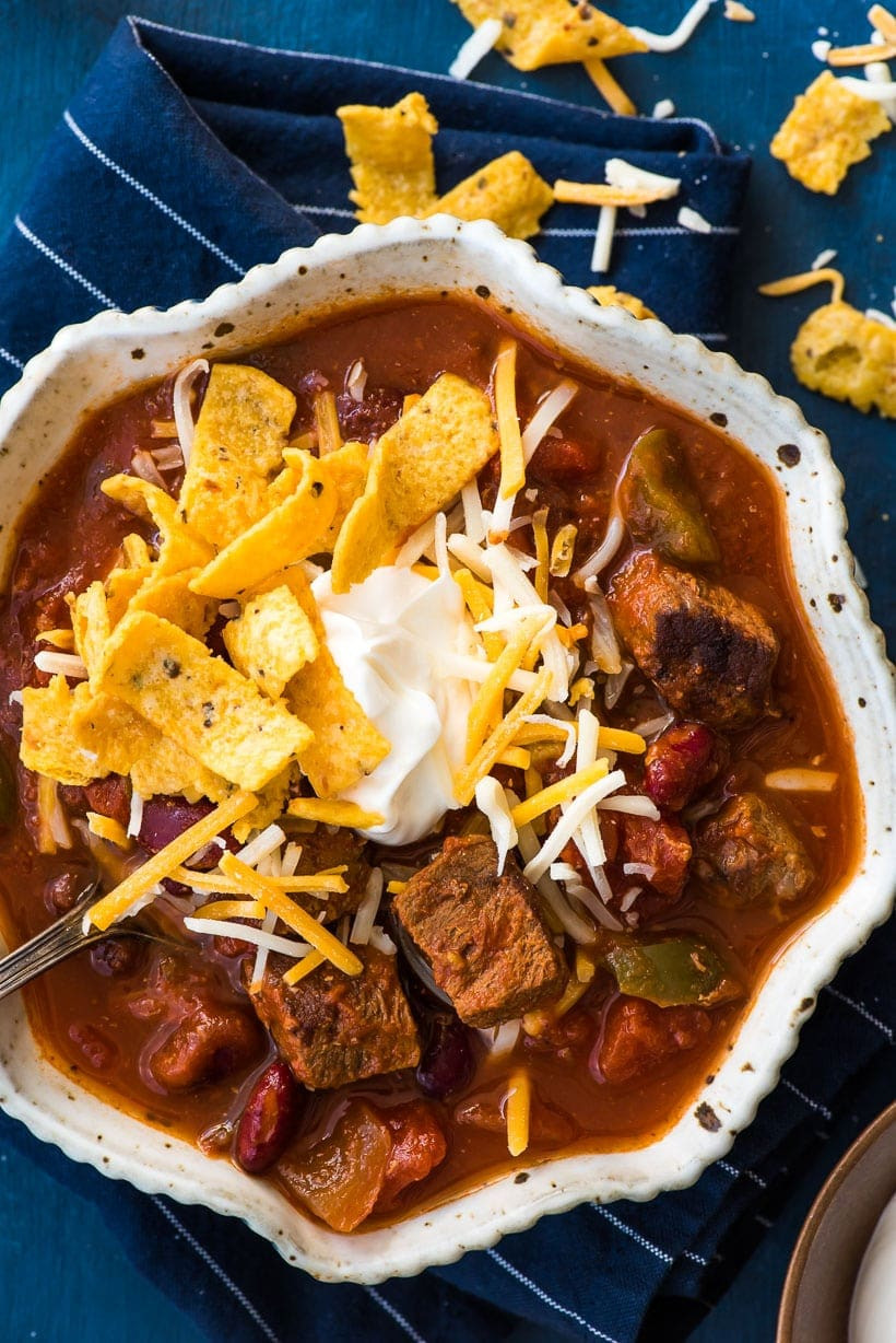 Chili With Steak And Ground Beef  Slow Cooker Steak Chili