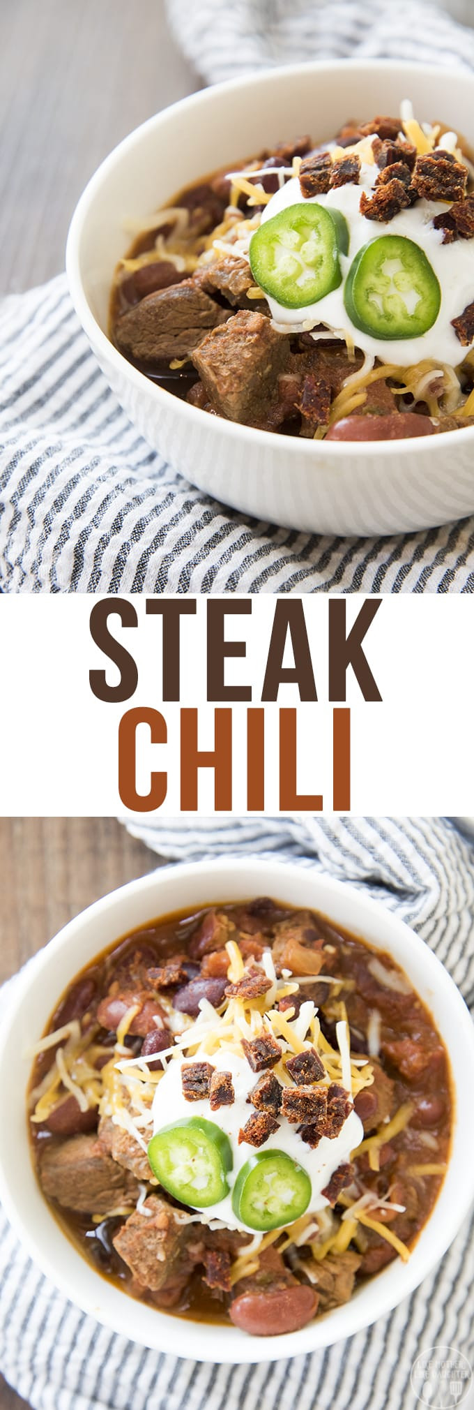 Chili With Steak And Ground Beef  Steak Chili – Like Mother Like Daughter