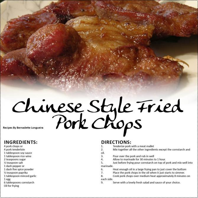 Chinese Fried Pork Chops  Chinese Style Fried Pork Chops