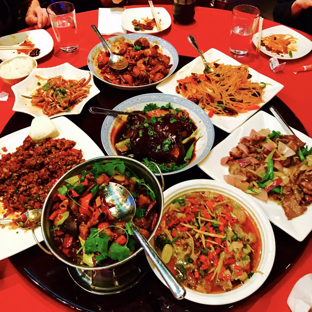 Chinese New Year Dinner  Big dinner for the Chinese New Year Year of the Rooster
