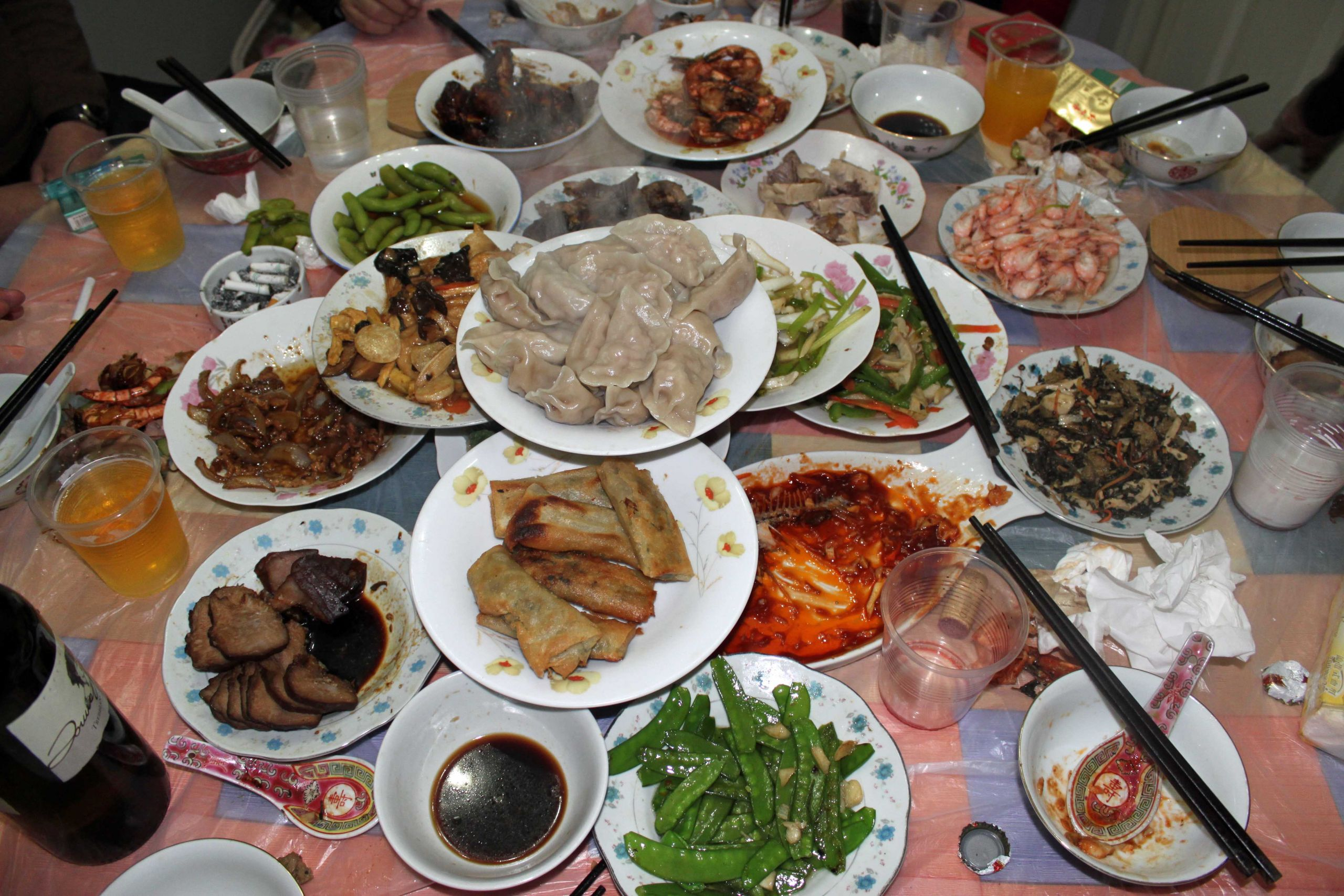 Chinese New Year Dinner  新年快乐 Xin Nian Kuai le Happy Chinese New Year