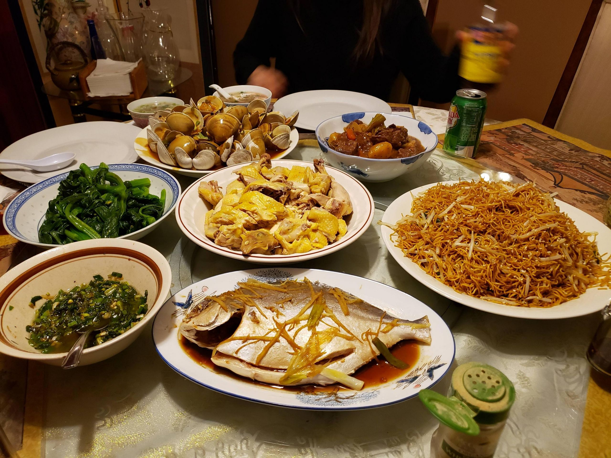 Chinese New Year Dinner  [Homemade] A little Chinese New Years Eve dinner food