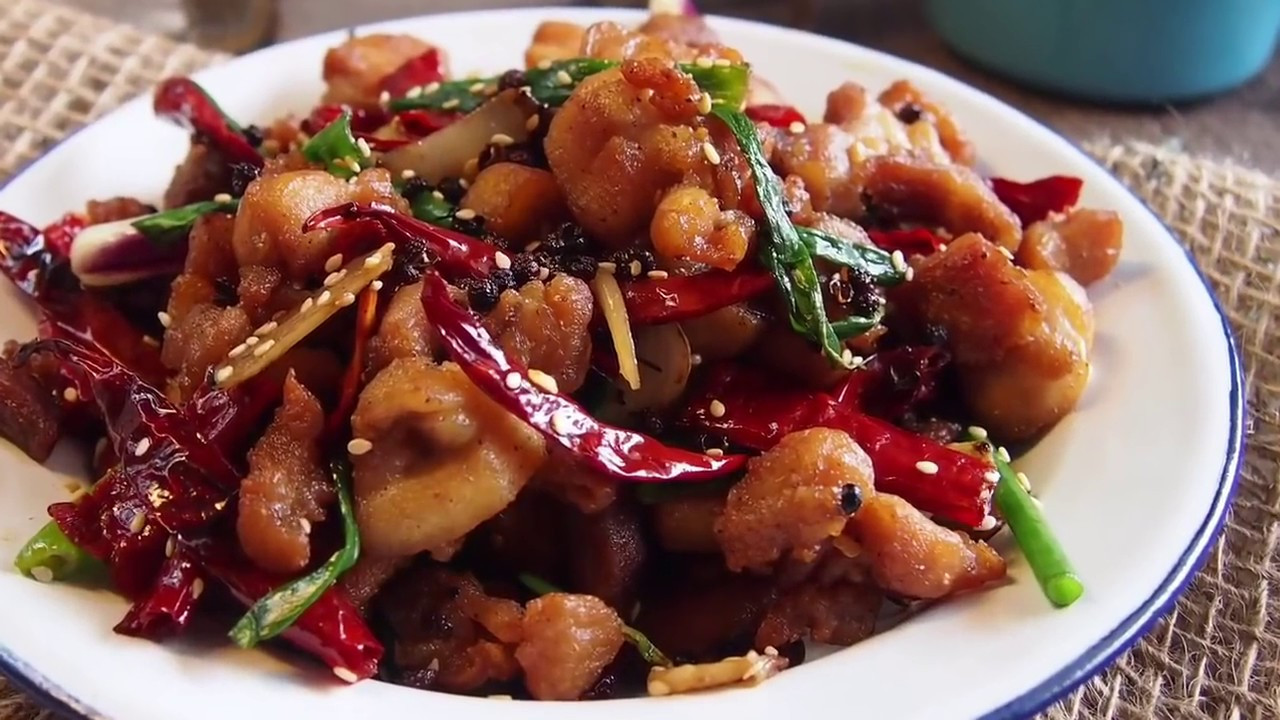 Chinese Pork Recipes  Easy Chinese Recipe Sichuan Spicy Chicken 辣子鸡 Szechuan