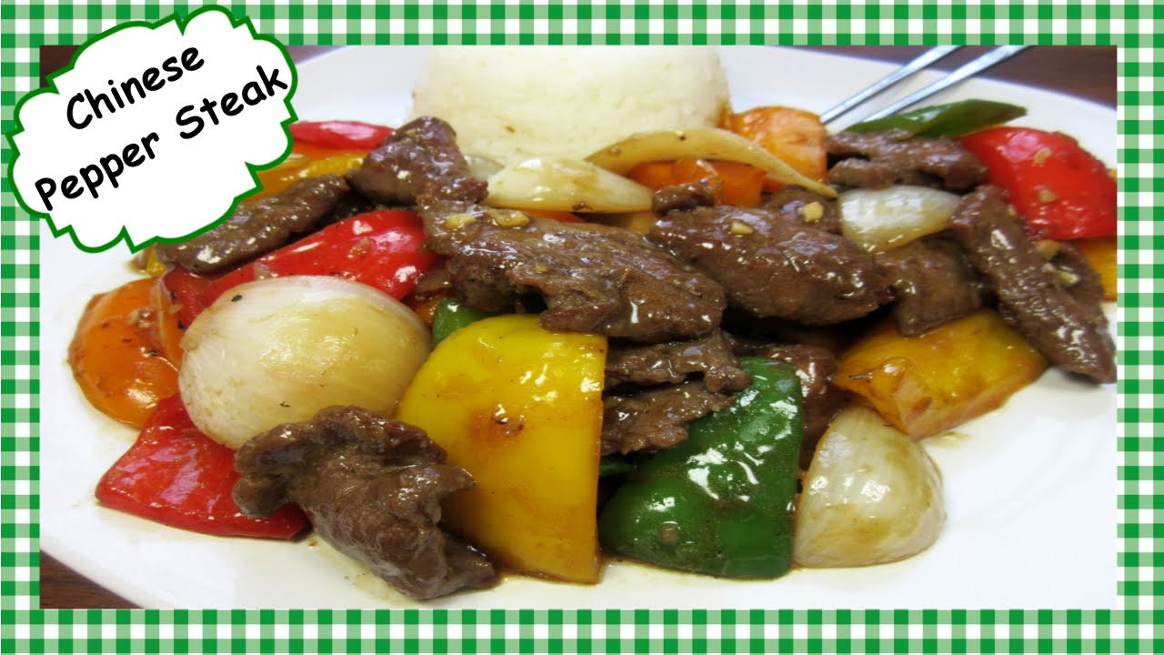 Chinese Steak Recipes  How To Make The Best Chinese Pepper Steak Chinese Stir