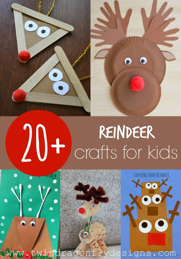 Christmas Arts And Craft Ideas For Toddlers  20 Reindeer Crafts for Kids Dragonfly Designs