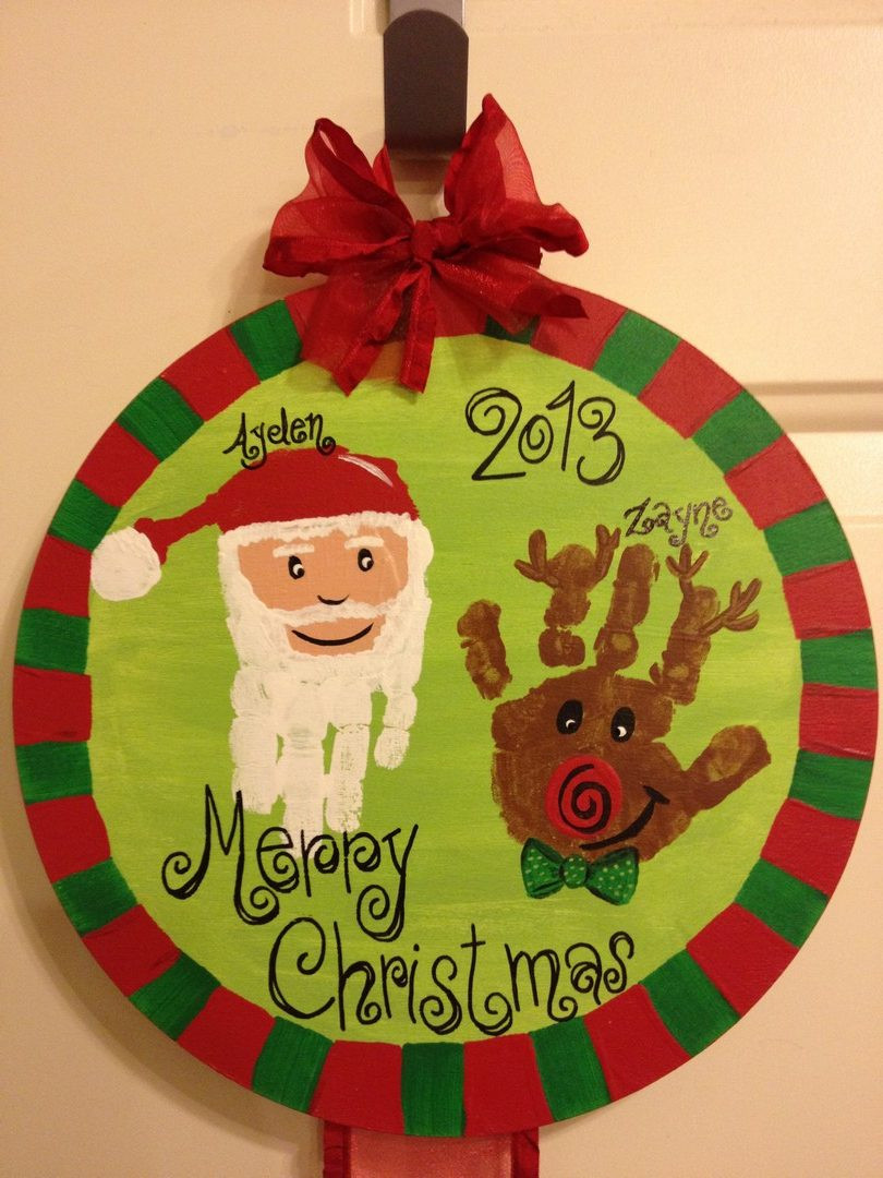 Christmas Arts And Craft Ideas For Toddlers  21 Cute and Fun Christmas Handprint and Footprint Crafts
