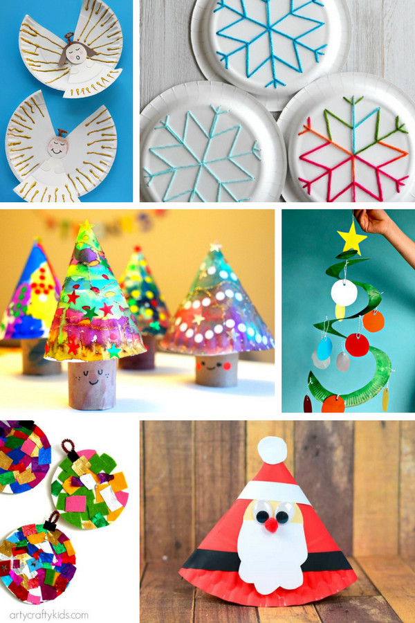 Christmas Arts And Craft Ideas For Toddlers  Fabulous Paper Plate Christmas Crafts Arty Crafty Kids